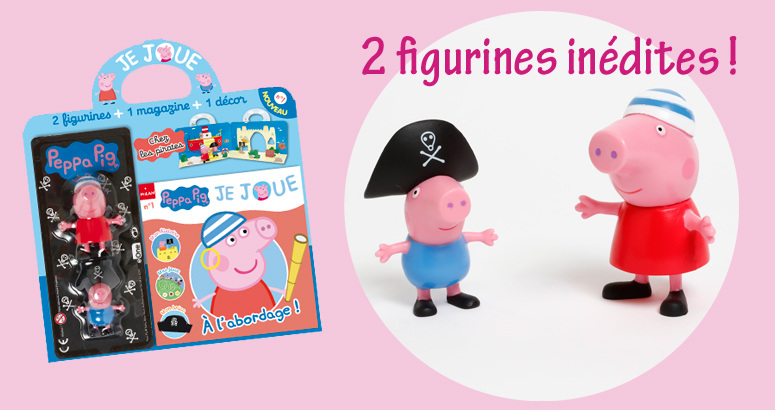 Peppa pig magazine figurines