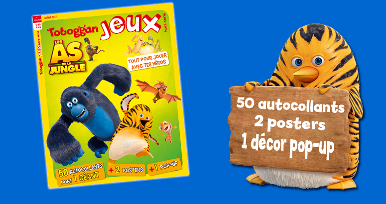 toboggan magazine abonnement enfant 6 ans as de la jungle