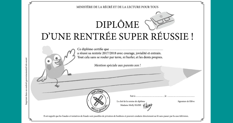 diplome rentree scolaire reussie